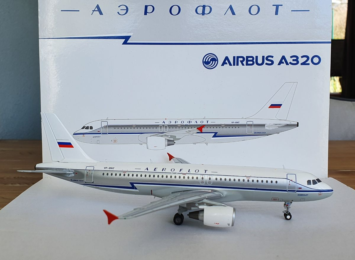 JC Wings Airbus A320 Aeroflot 'Retro' XX2619 €79